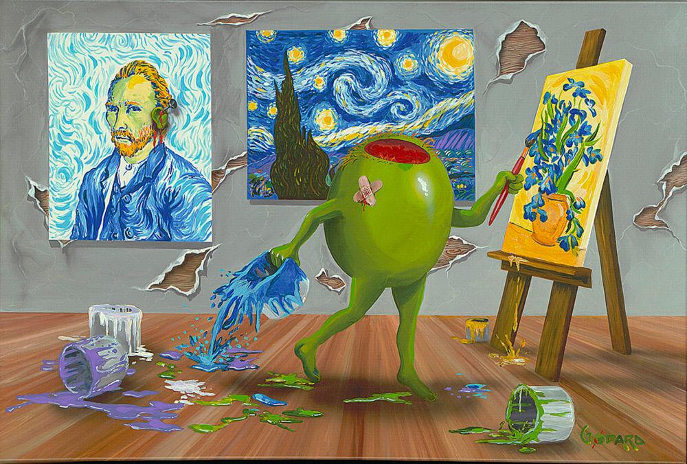 Van Gogh Dark Michael Godard Park West Gallery