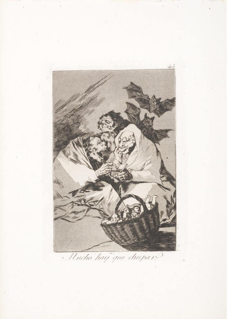 """""""Mucho hay que chupar"""" (1799) Francisco Goya"""