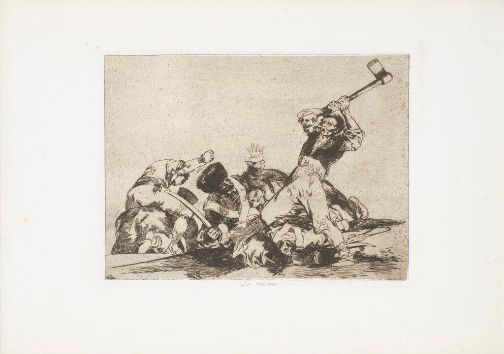 """""""Lo Mismo"""" (1810-1820) Francisco Goya"""