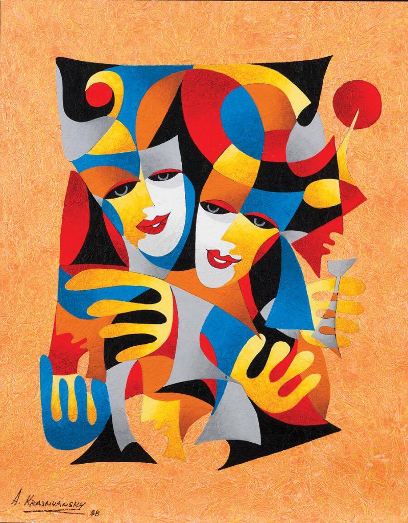 """""""Two Masks"""" Anatole Krasnyansky Park West Gallery"""
