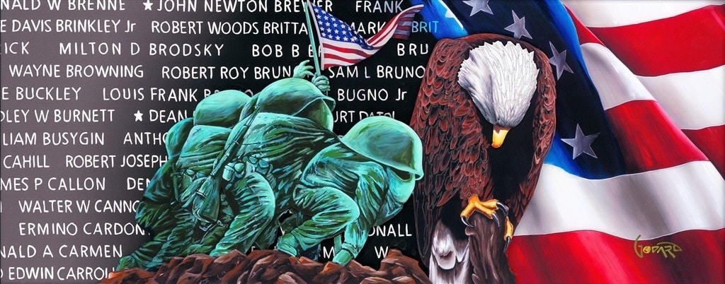 """""""For Those Who Gave All"""" (2020), Michael Godard"""