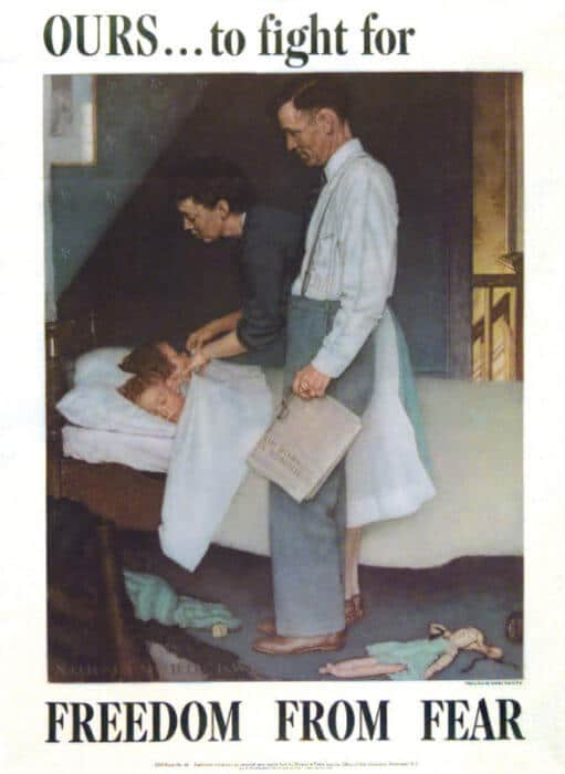 Freedom from Fear Norman Rockwell Park West Gallery, The Four Freedoms
