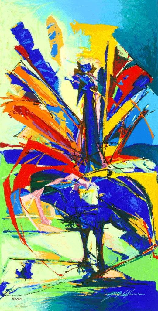 """""""Blue Peacock"""" (2011) Yuval Wolfson"""