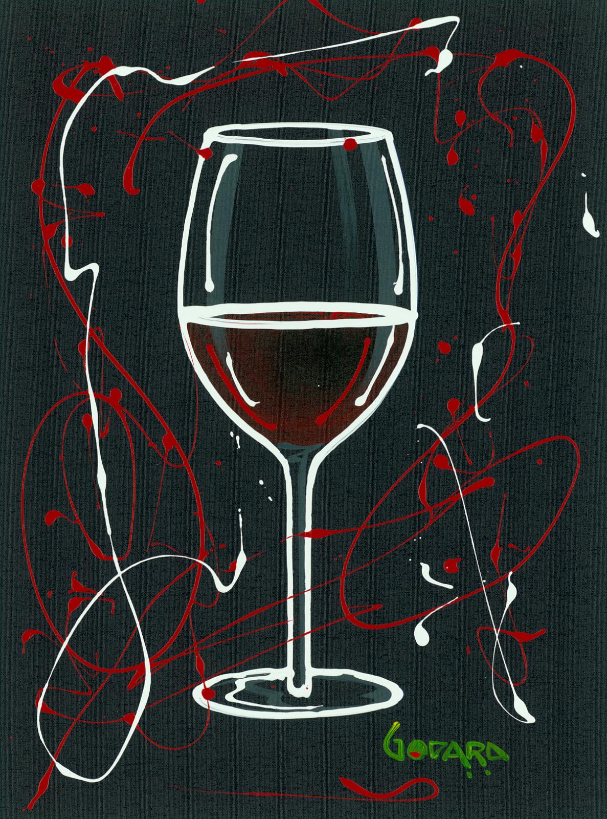 """Red Wine on Black"" (2015) Michael Godard"
