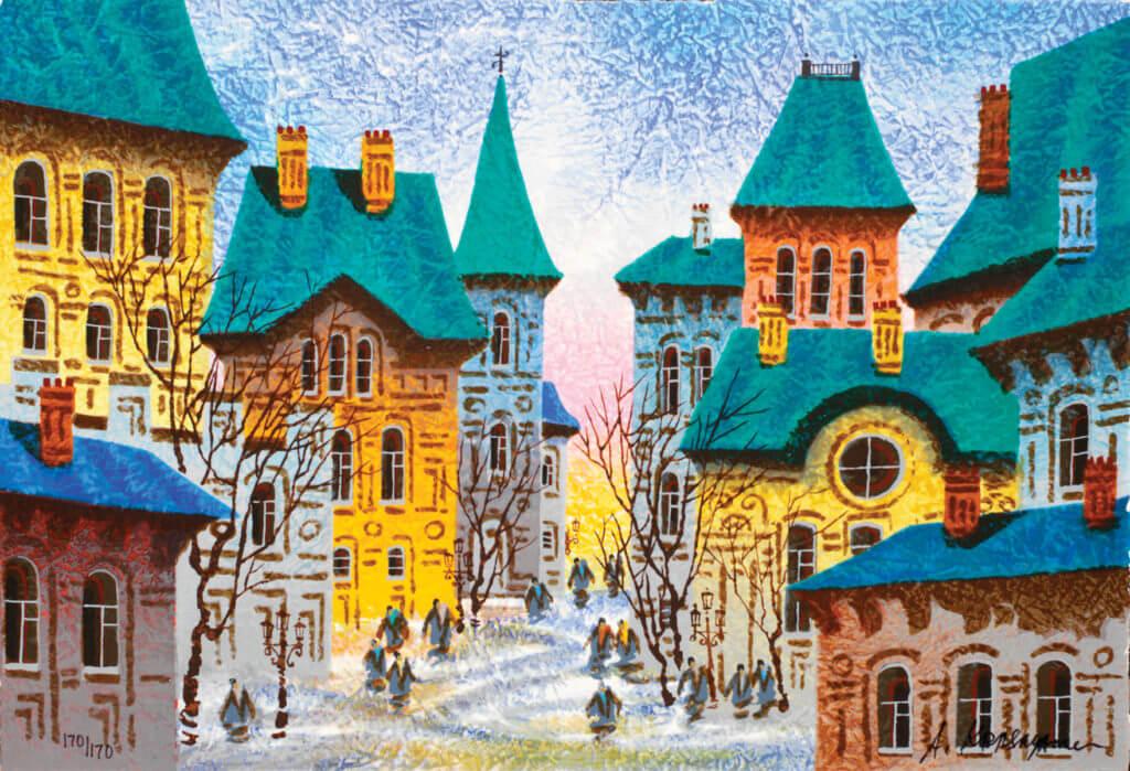 """""""A Yellow Sunrise in Prague"""" (2008) Anatole Krasnyansky"""
