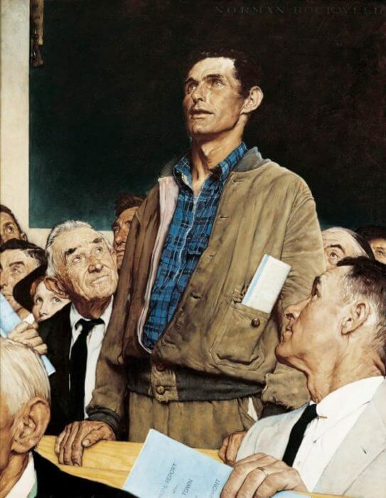 Freedom of Speech Norman Rockwell Park West Gallery