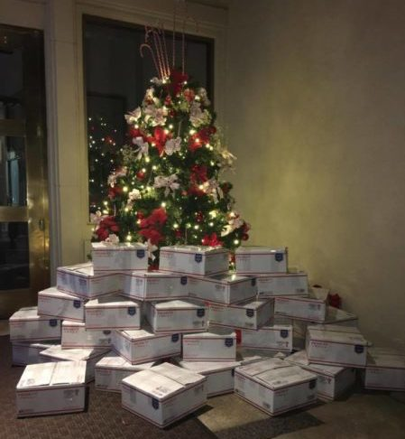 Park West staff packed 29 care packages on November 29 to be sent to troops overseas.