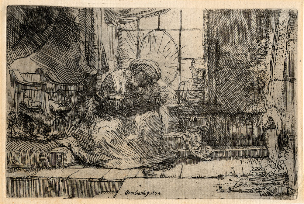 The Virgin and Child with the Cat Rembrandt van Rijn