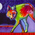 """Lone Coyote"" (2016), Tim Yanke Park West Gallery"