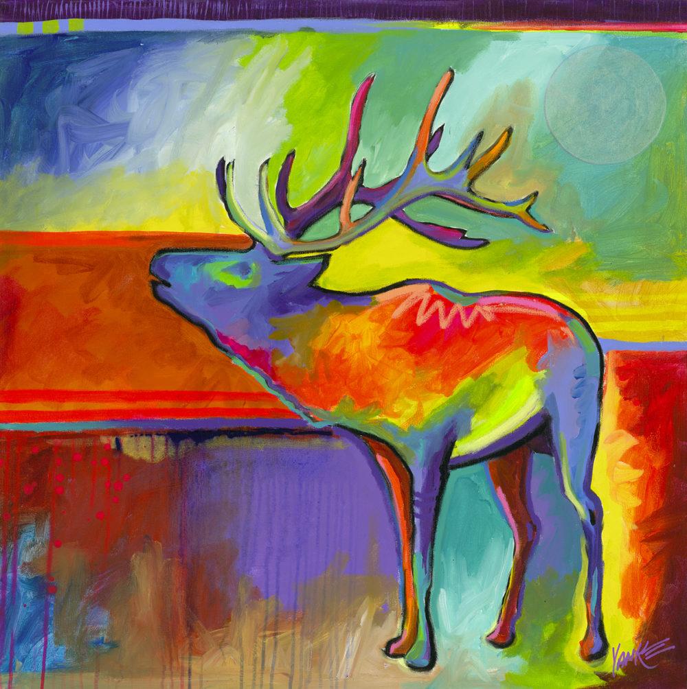 """""""Lone Elk"""" (2016) Tim Yanke Park West Gallery"""