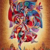 Anatole Krasnyansky Bluebird on metal Park West Gallery