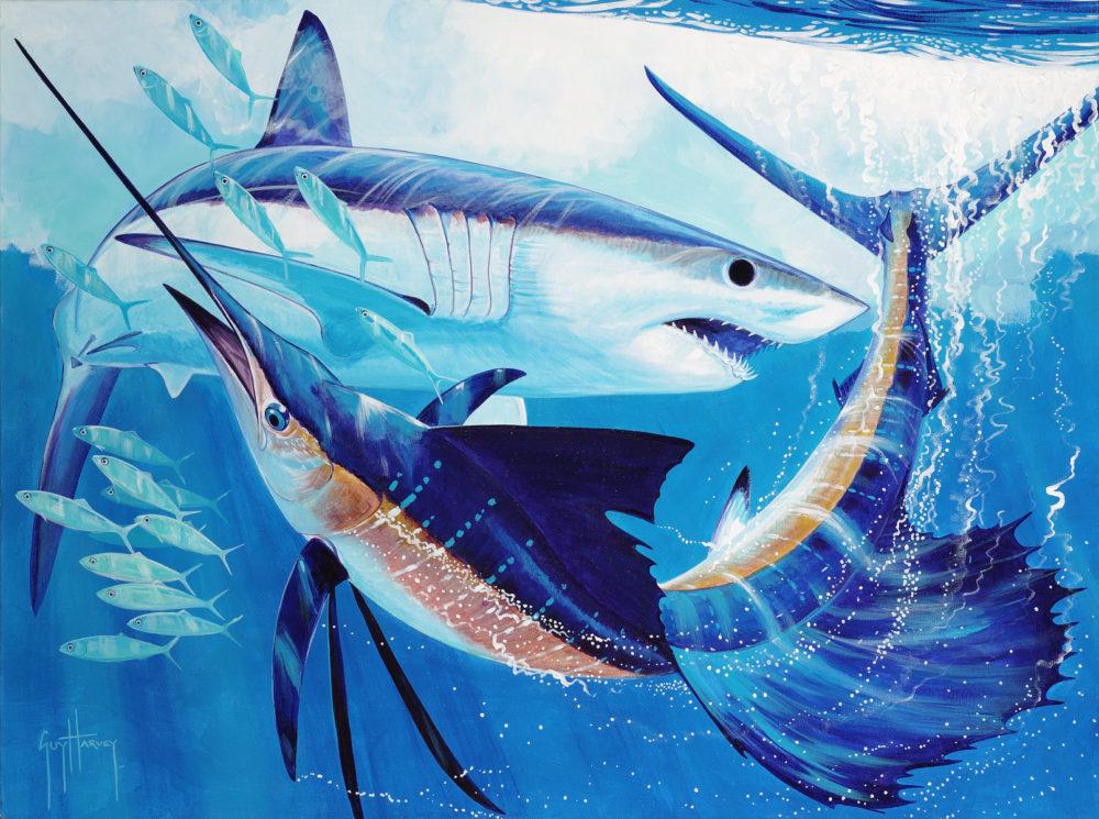 Mako Shark and Sailfish Guy Harvey Park West Gallery