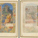 "Illuminated Manuscript. ""Christ Kneeling in Prayer in the Garden of Gethsemene"" (c. 1475 France, Loire Valley)"