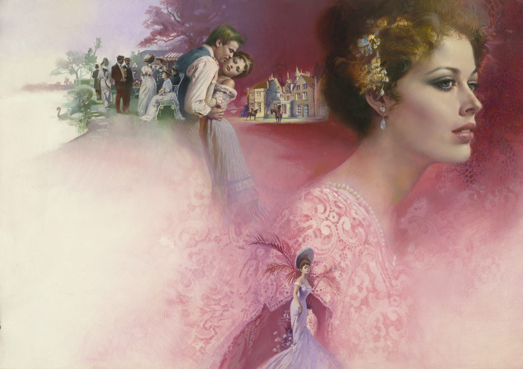 "Oil painting, designed for cover of the novel ""Margaret Normanby"" (Signet, 1979)"