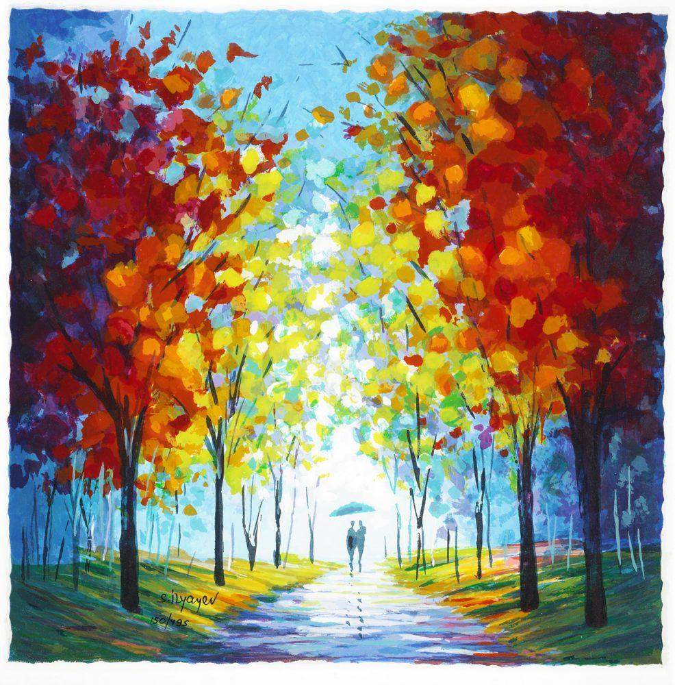 Autumn Rain Slava Ilyayev Park West Gallery