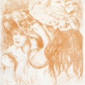 """""""Le Chapeau Epingle"""" Pierre-Auguste Renoir Park West Gallery"""