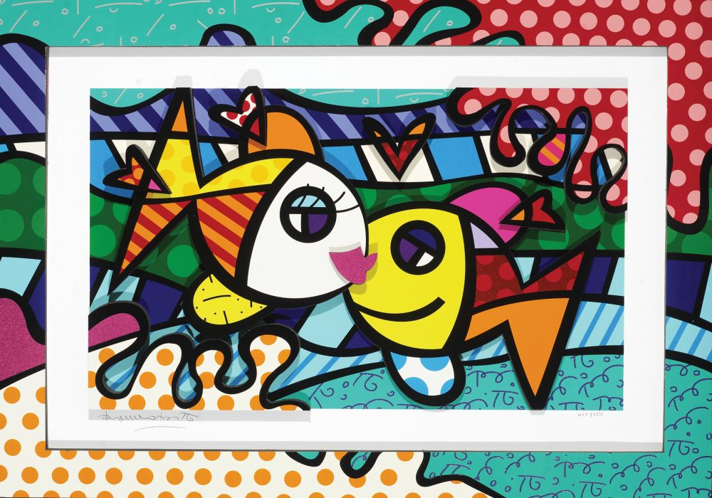 Romero Britto Deeply In Love Too Park West Gallery