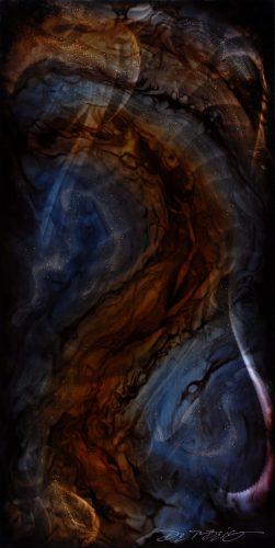 Chris DeRubeis Abstract Blue/Brown Park West Gallery