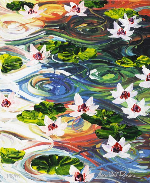 Lilies in a Pond Alexandre Renoir Park West Gallery