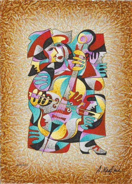 Cello Solo Anatole Krasnyansky Park West Gallery