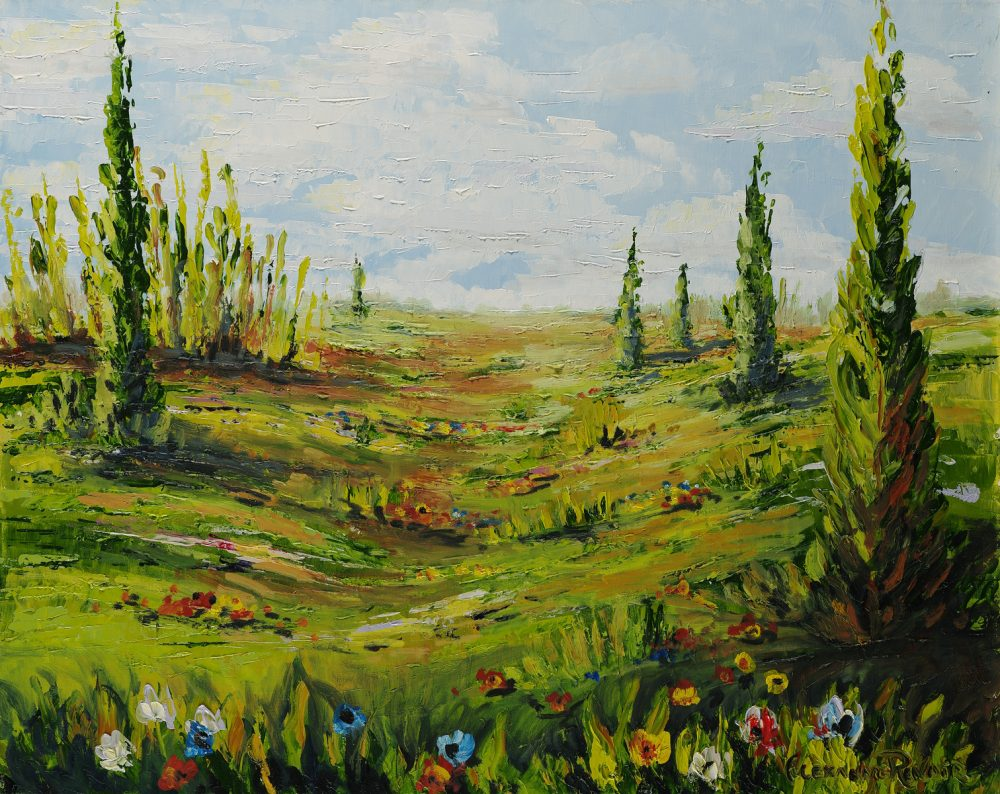 Alexandre Renoir Field of Flowers Park West Gallery
