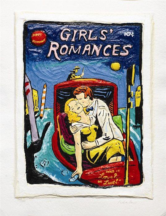 Pop Art Girl's Romances by Leslie Lew