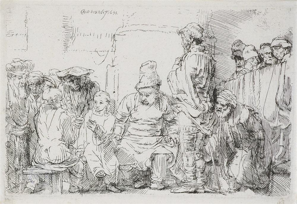 """""""Christ Seated Disputing with the Doctors"""" (1658), Rembrandt van Rijn"""