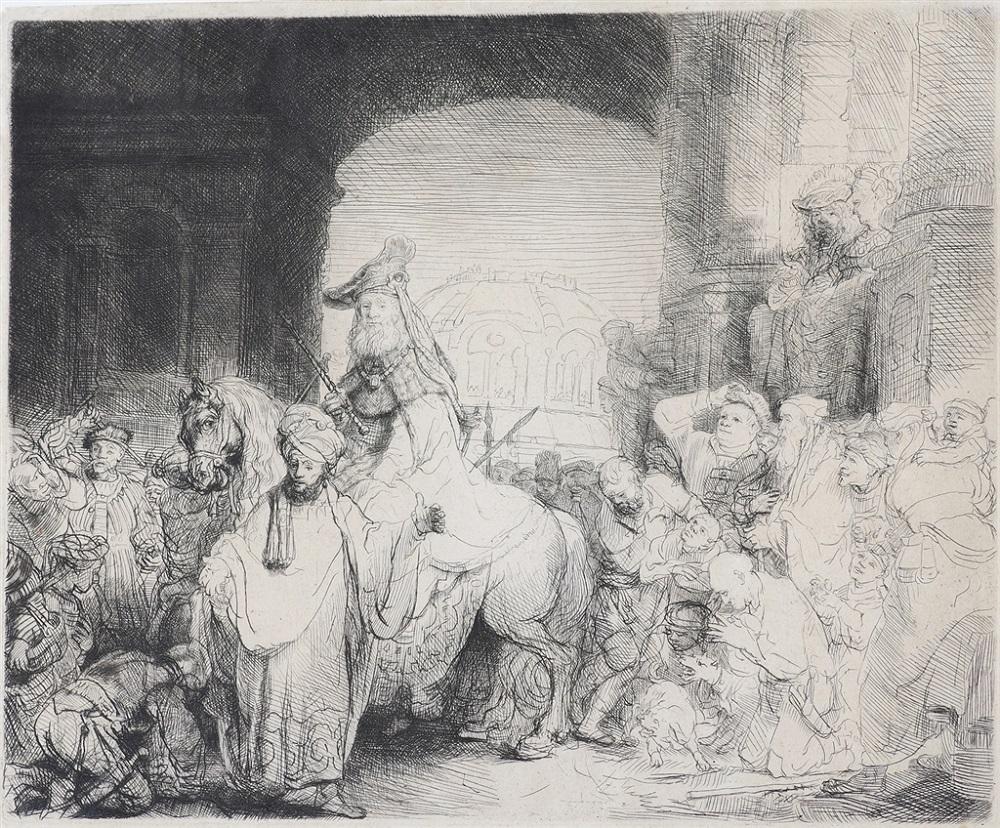 """""""Triumph of Mordecai"""" (1641), Rembrandt van Rijn"""