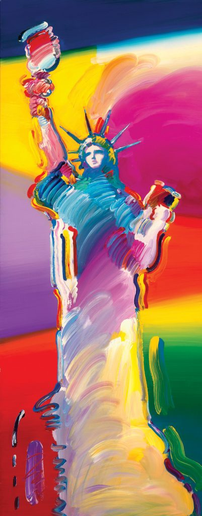 Peter Max statue of Liberty Park West Gallery