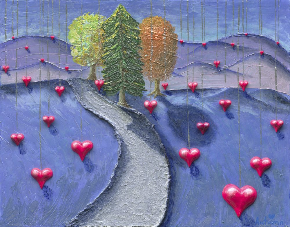 Autumn de Forest Dripping Hearts