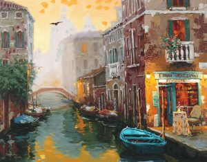 Park West Gallery Viktor Shvaiko Venice in Gold