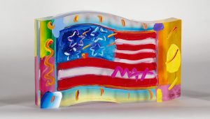 Peter Max Flag with Heart Park West Gallery