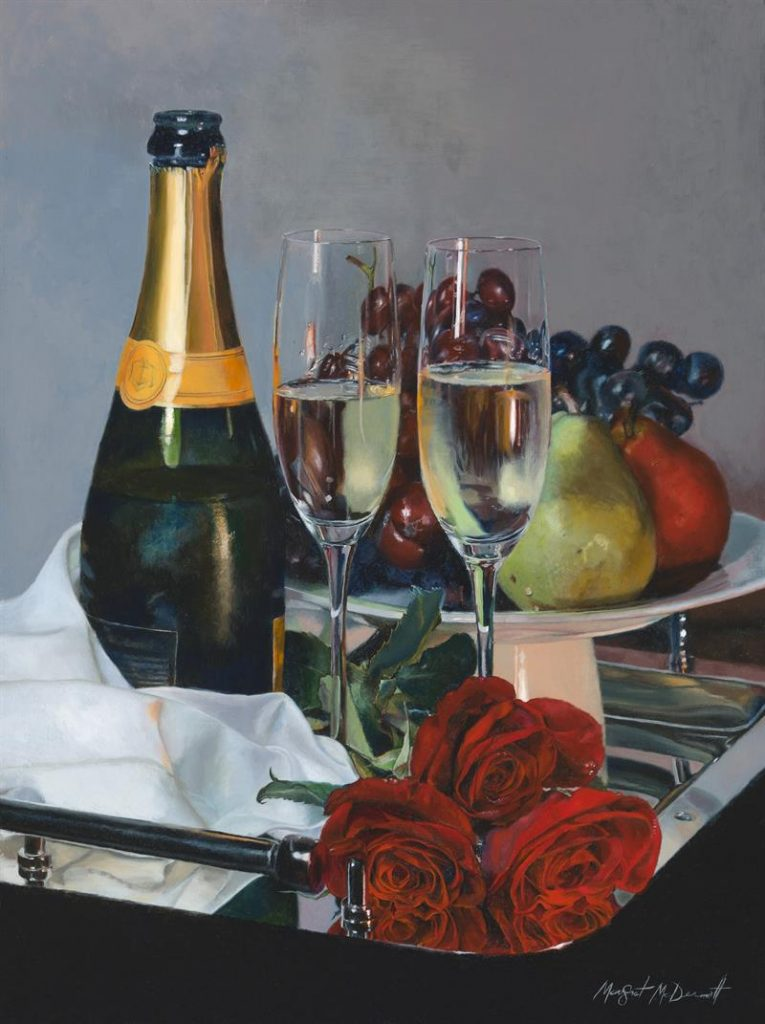 """""""Tete-a-Tete Champagne and Roses"""" (2017), Margret McDermott"""