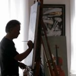 Look Inside The Studio of Scott Jacobs: The Original Harley Davidson Artist