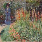 """""""Rounded Flower Bed (Corbeille de fleurs)"""" (1876), Claude Monet."""