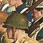 "Detail from ""A Pictorial History of the United States Army"" by Norman Rockwell"
