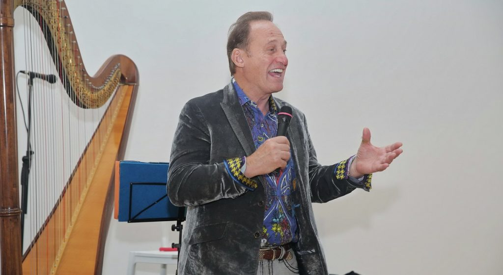 Park West Gallery Founder and CEO Albert Scaglione performing at YAMA (Photo by Shooka Cohen)