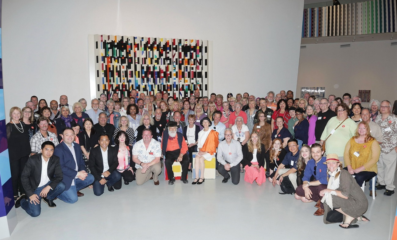 Park West Galley VIP guests at the Yaacov Agam Museum of Art