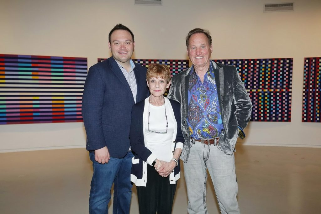 John Block, Park West VIP Auctioneer, with Mitsie and Albert Scaglione at YAMA (Photo by Shooka Cohen)