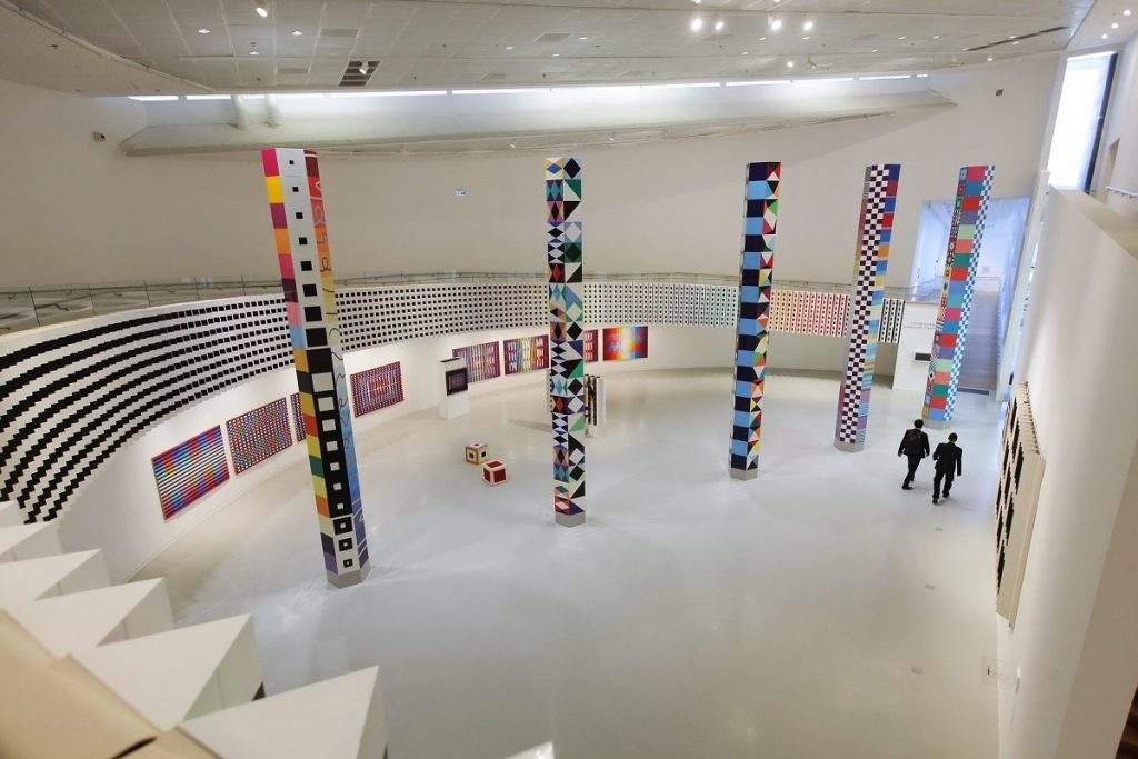 The interior of the Yaacov Agam Museum of Art (YAMA)