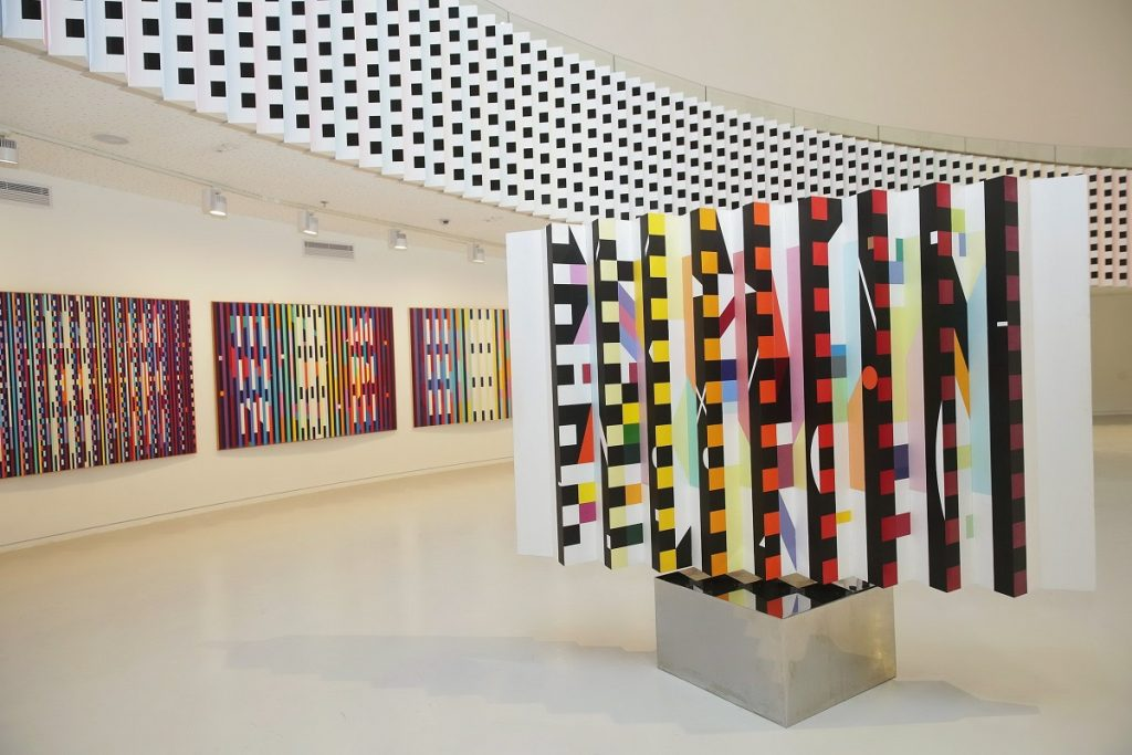 The interior of the Yaacov Agam Museum of Art (Photo by Shooka Cohen)