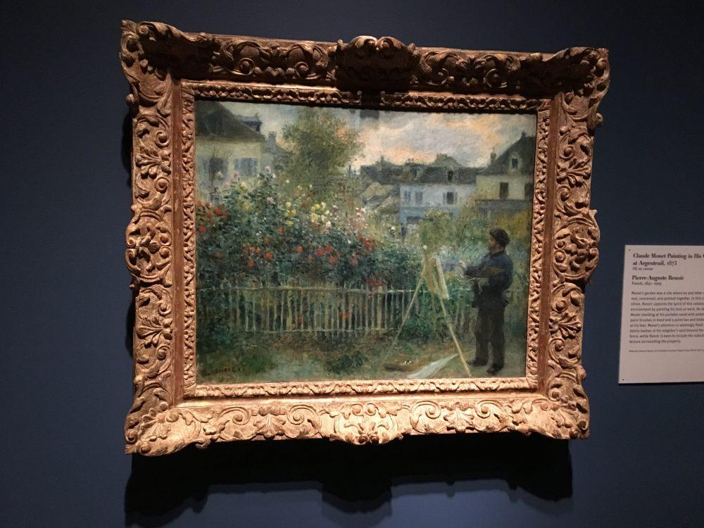 Pierre-Auguste Renoir Claude Monet Painting in His Garden at Argenteuil