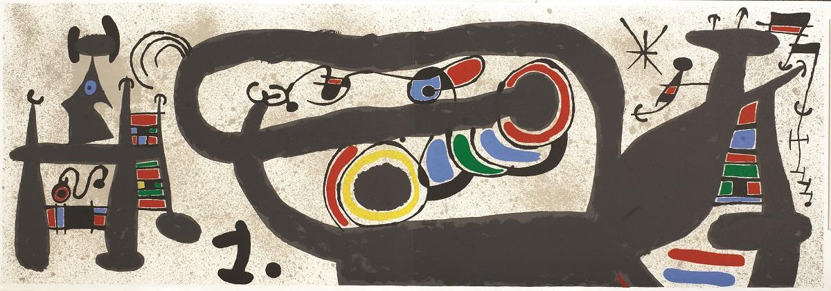 """""""Le Lezard aux Plumes d'or II"""" (1971), Joan Miró, Park West Museum"""