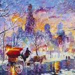 """Snowy New York"" (2014), Daniel Wall, Park West Gallery Winter Art"