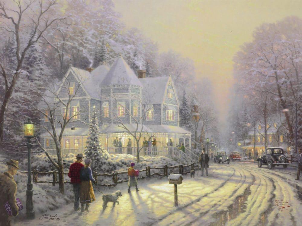 The Hidden Secrets of Thomas Kinkade\'s \'A Holiday Gathering\' - Park ...