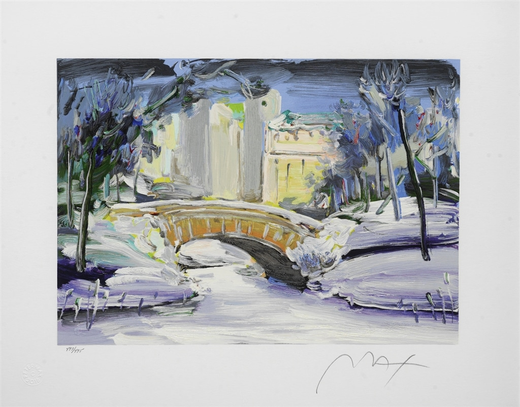 """""""Central Park Winter"""" (2006), Peter Max"""