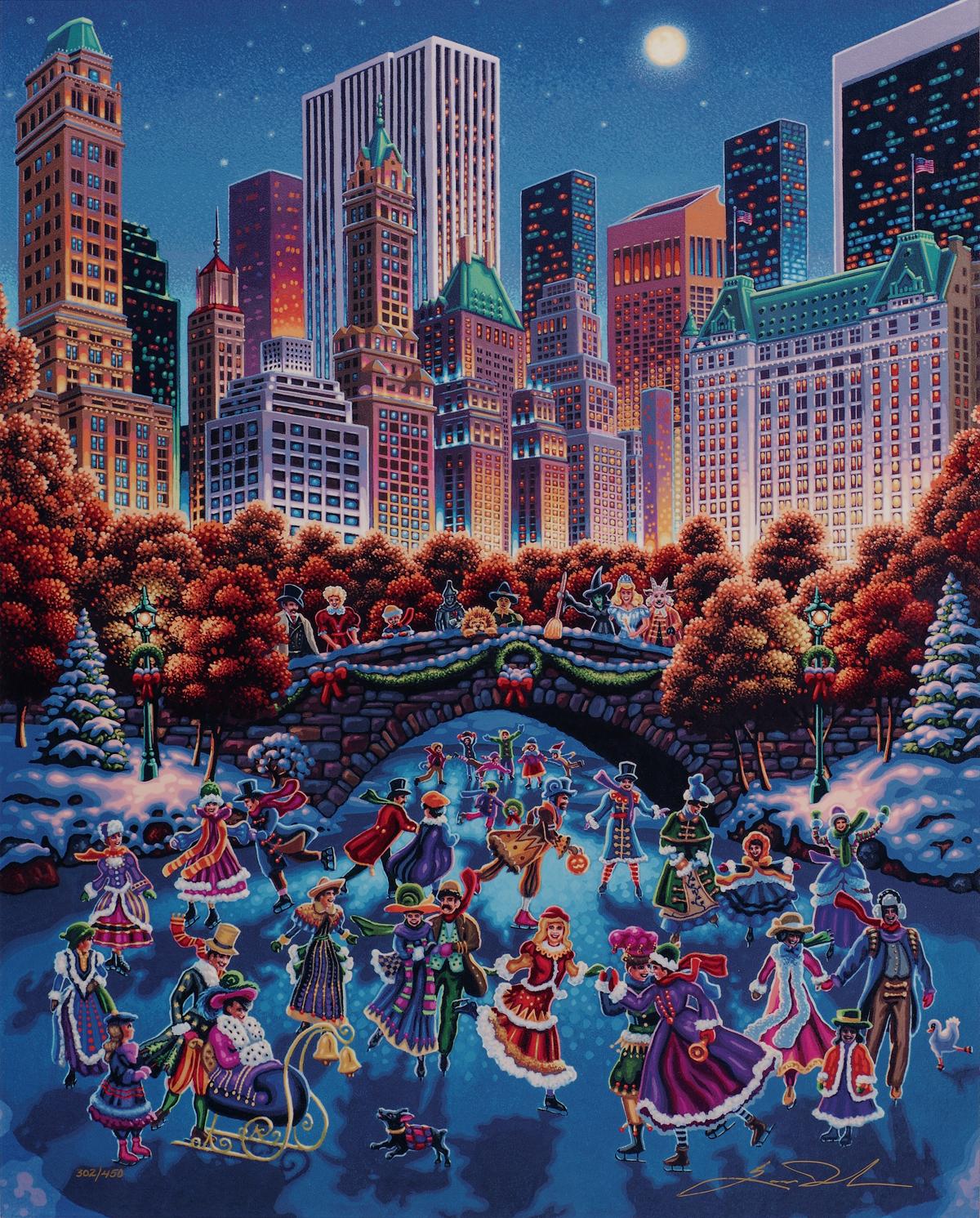 """""""Central Park"""" (2016), Eric Dowdle, Park West Gallery Winter Art"""