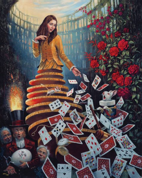 Michael Cheval Nothing but a Pack of Cards Park West Gallery