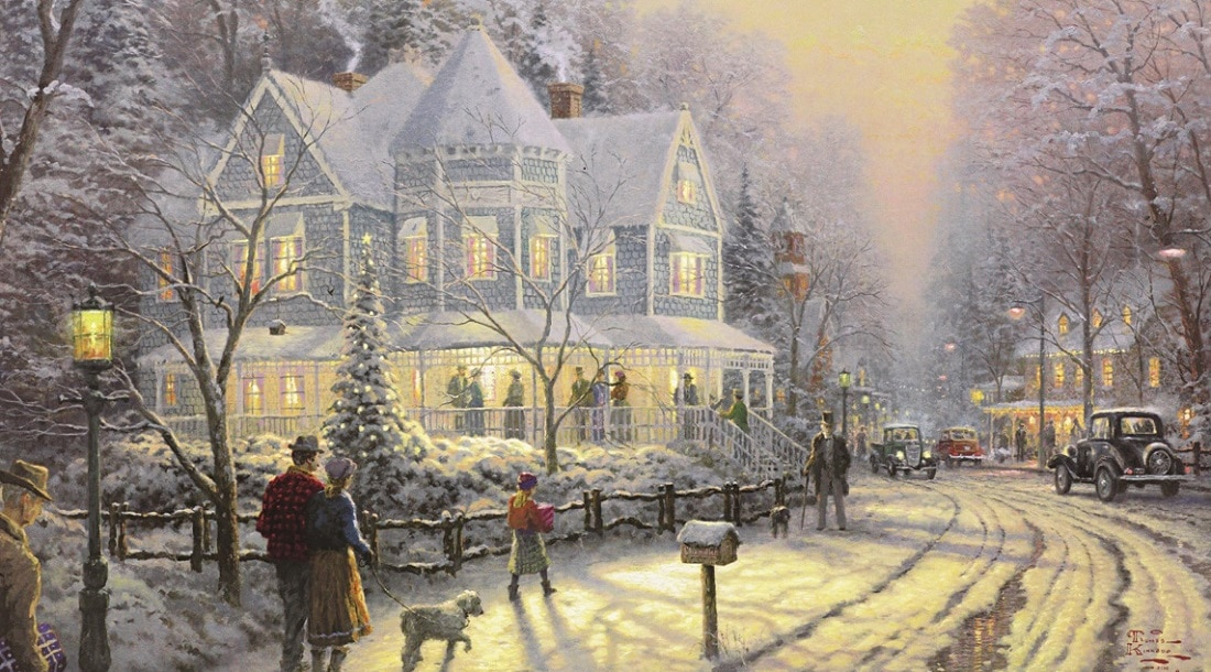 The Hidden Secrets Of Thomas Kinkade S A Holiday Gathering
