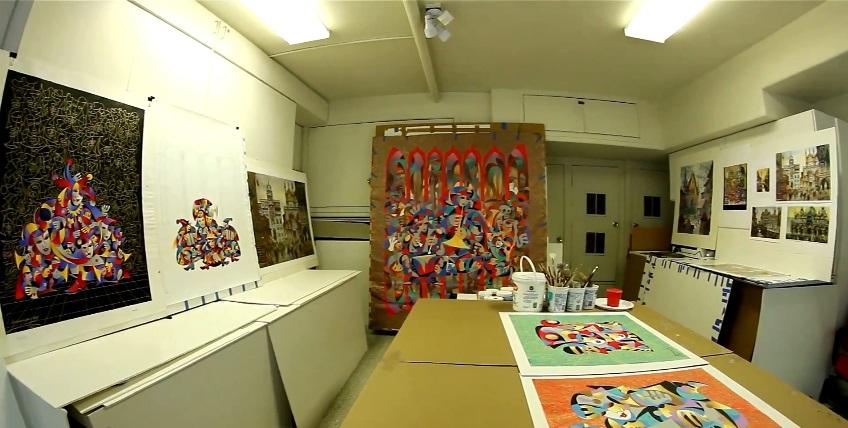 Anatole Krasnyansky's studio in Southern California